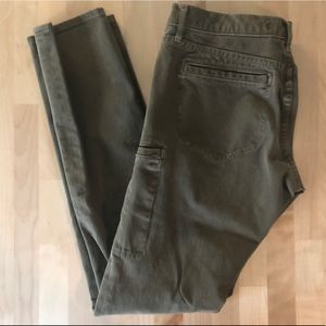 Blue Pearl skinny cargo jeans, olive